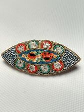 Micro-mosaic Italian Brooch Lovely Condition