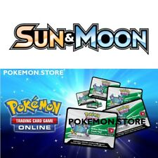 100 juego de base Sun & Moon codes Pokemon TCG Online Booster Pack-enviar por correo electrónico rápido!