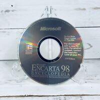 Microsoft Encarta 98 Encyclopedia PC CD-ROM Software for Windows