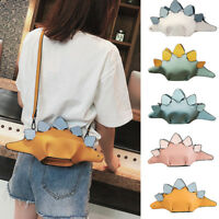 Womens Lovely Cartoon Handbags Flap 3D Funny Dinosaur Animal Messenger Bag Purse