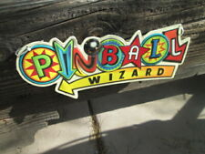 PINBALL WIZARD GAME METAL SIGN Quality VINTAGE LOOK VIDEO PINBALL AMUSEMENT 16*6