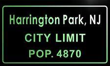 t74160-g Harrington Park, NJ City Limit POP. 4870 Indoor Neon Sign