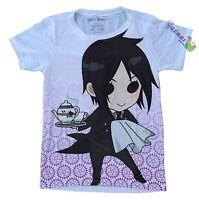 **Legit** Black Butler Chibi Sebastian Tea Time Authentic Juniors T-Shirt #59667