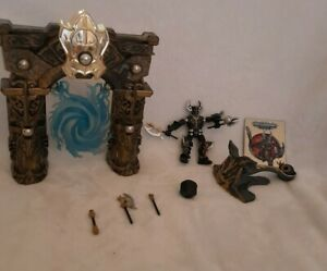 2006 Mega Blox Magnetic Castle Arch Mag Warrior Valtheran Catapult Rare? Toy