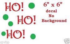 "Ho Ho Ho Christmas Decal Sticker for 8"" Glass Block DIY Crafts"