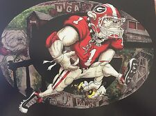 "Georgia Bulldogs Football Dave Helwig ""Georgia Traditions"" Artwork  UGA"
