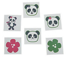 36 Assorted Fun Panda Party Kids Temporary Tattoos Party Favors