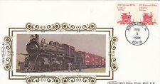 (03831) COPERCHIO USA BENHAM treni Rosemont il 3 FEBBRAIO 1984