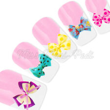 Nail Art Water Decals Transfers Stickers Wraps Polka Dot & Floral Bows Bow Y173