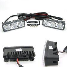 2Pcs 3LED White High Power Car DRL Daytime Running Light Fog Lamp 12V Universal