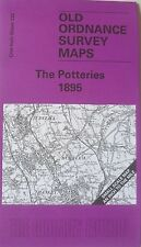 Old Ordnance Survey Map  Potteries area Staffordshire Newcastle Betley  1895 123