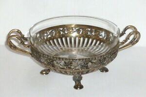 Alte silberne Schale 800 Silber silver Tafelaufsatz Aufsatzschale Glasschale RAR