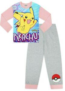 Pokemon Pikachu Girls  Pyjamas 7 to 12 Years PJ Pokemon  W16 Game Girls Go
