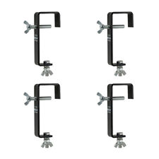 4 x Black 50mm Hook G Clamp Lighting Support Truss Theatre Disco DJ Rigging