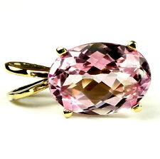 Pure Pink Topaz, 14KY Gold Pendant, P040