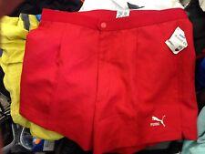 VINTAGE TENNIS SHORTS  red BNWL AT £12 IN ISI BRAND P;OCKETS puma