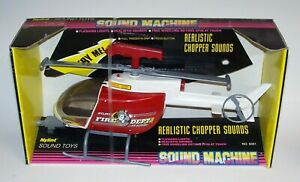 Nylint Sound Machine Fire Department Air Support Helicopter No 5052 NIB 1992