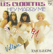 "7"" 45 TOURS BELGIQUE LES CLODETTES ""Hey Marry Me +1"" 1980 DISCO SEXY"