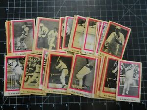 1974 SUNICRUST CRICKET GAME CARD x 51 cards