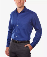 Van Heusen Men's Classic-Fit Flex Collar Dress Shirt Blue Velvet, Size 16 32/33