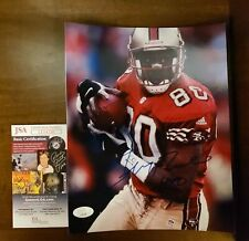 Jerry Rice Signed San Francisco 49ers HOF 8x10 Photo JSA COA Auto Autograph