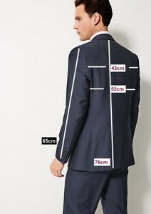 M&S SAVILE ROW INSPIRED  Navy Striped Tailored Fit Wool Suit PRP £249