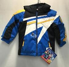 Obermeyer Boys Super G Snow Ski Winter Jacket Blue Black White Size Kids 4 NEW