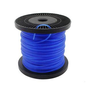 100m Mähfaden Trimmerfaden Rasen Ersatzfaden Motorsense Rasentrimmer 2,4mm Blau