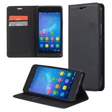 Funda-s Carcasa-s para Huawei Y6 II libro Wallet Case-s bolsa cover negro