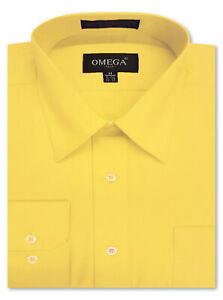 MENS Solid Long Sleeve Premium Regular fit Dress Shirt 26 Colors Part 1