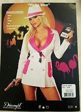 Sexy Miami Vice Police Detective Costume Halloween Lingerie Womens 1X 2X