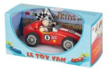 NEW PAPO Le Toy Van Budkins Wooden Red Retro Racer with Driver 18cm