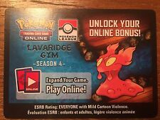 Rare Pokemon TCG Online Slugma Lavaridge Gym - Season 4 Code Card