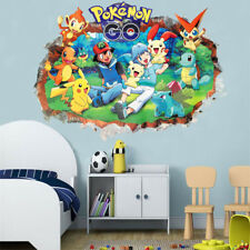 Pokemon Wall Stickers 3D Decals Cartoon Pikachu Wallpaper Posters For Kids Room
