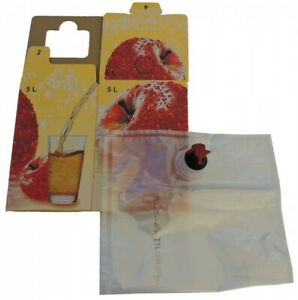 10x 5L Bag in Box Beutel + Karton Apfel als Set (1,79€/1Stk)