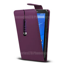 Flip Leather Case Cover Pouch  Various Models + Stylus For Sony Xperia PHONES