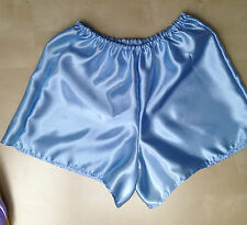 blue satin boxers pants bloomers french maid cosplay sissy adult baby 34-42