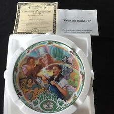 "Wizard of Oz Dorothy Musical Plate ""Over The Rainbow� Bradford Exchange"