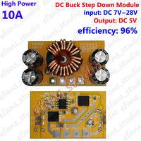 10A High Power DC-DC Buck Step down 9V 12V 15V 24V To 5V Voltage Converter Board