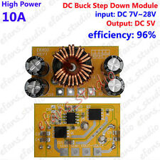 10A High Power DC Buck Step down 7~28V 12V 24V To 5 Voltage Converter Module Car