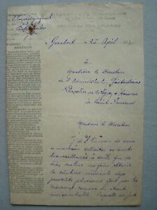 DOC 1937 LETTRE AUTOGRAPHE d'un BAGNARD au DIRECTEUR du BAGNE ST LAURENT MARONI