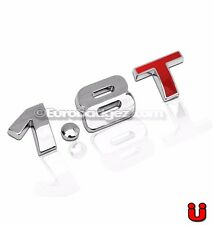 1- NEW 1.8T 3D Adhesive Rear Chrome Emblem Badge fits vw jetta gti 19mm 1.8T RED