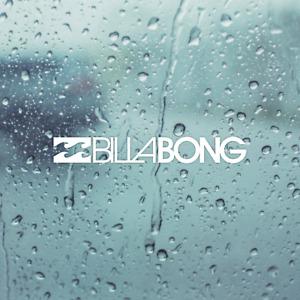 BILLABONG Die Cut White Vinyl Decal/Sticker 5 in x .7 in Surf Car truck Window