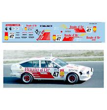 Décalcomanie pour miniature 1/43 ALFA  GTV 47 - Rallye de Spa 1985