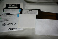 "3 GAMES - Hoyle Solitaire, Mah Jongg Solitaire, Wheel of Fortune  - 5.25"" disks"