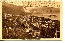 Aerial Small Town-Lake Maggiore-Stresa Borromeo-Italy-Vintage 1928 Postcard