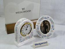 "Wedgwood Bone China ""Angela "" Dome Mantle Clock & Matching Picture Frame, Superb"