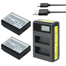 DVISI LP-E10 Rechargeable Batteries +LCD USB Charger For Canon EOS 1100D 1200D