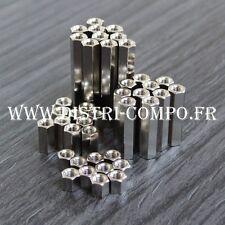 Entretoise métal femelle femelle M3 longueur 5 - 10 - 20 - 30mm (lot de 40)