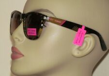 Betsey Johnson Stunning Gold & Black Snakeskin Print 100% UV Plastic Sunglasses